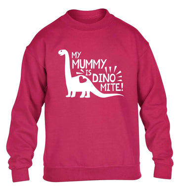 My mummy is dinomite children's pink sweater 12-13 Years