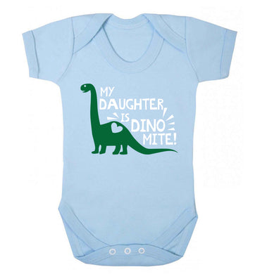 My daughter is dinomite! Baby Vest pale blue 18-24 months