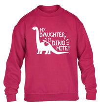 My daughter is dinomite! children's pink sweater 12-13 Years