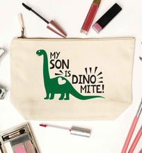 My son is dinomite! natural makeup bag