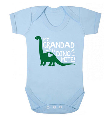 My grandad is dinomite! Baby Vest pale blue 18-24 months