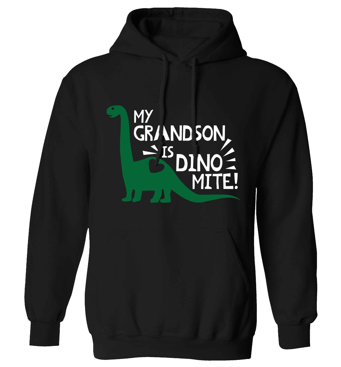 My grandson is dinomite! adults unisex black hoodie 2XL