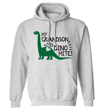 My grandson is dinomite! adults unisex grey hoodie 2XL