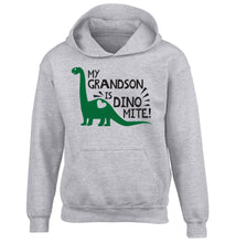 My grandson is dinomite! children's grey hoodie 12-13 Years