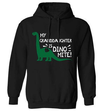 My granddaughter is dinomite! adults unisex black hoodie 2XL