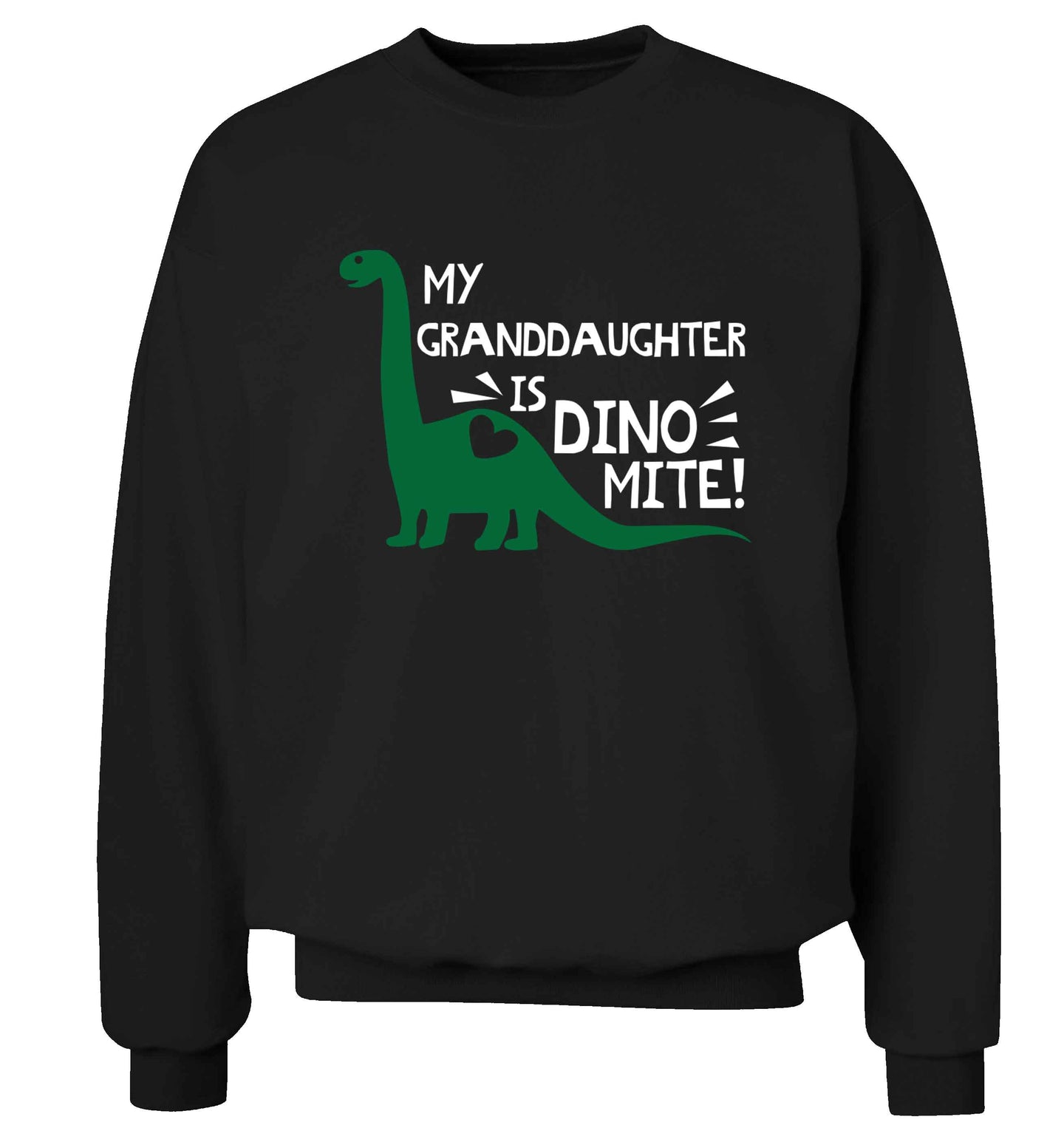 My granddaughter is dinomite! Adult's unisex black Sweater 2XL