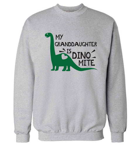 My granddaughter is dinomite! Adult's unisex grey Sweater 2XL