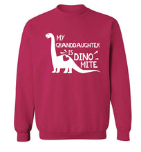 My granddaughter is dinomite! Adult's unisex pink Sweater 2XL