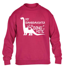 My granddaughter is dinomite! children's pink sweater 12-13 Years