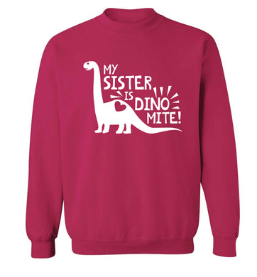 My sister is dinomite! Adult's unisex pink Sweater 2XL