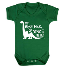 My brother is dinomite! Baby Vest green 18-24 months