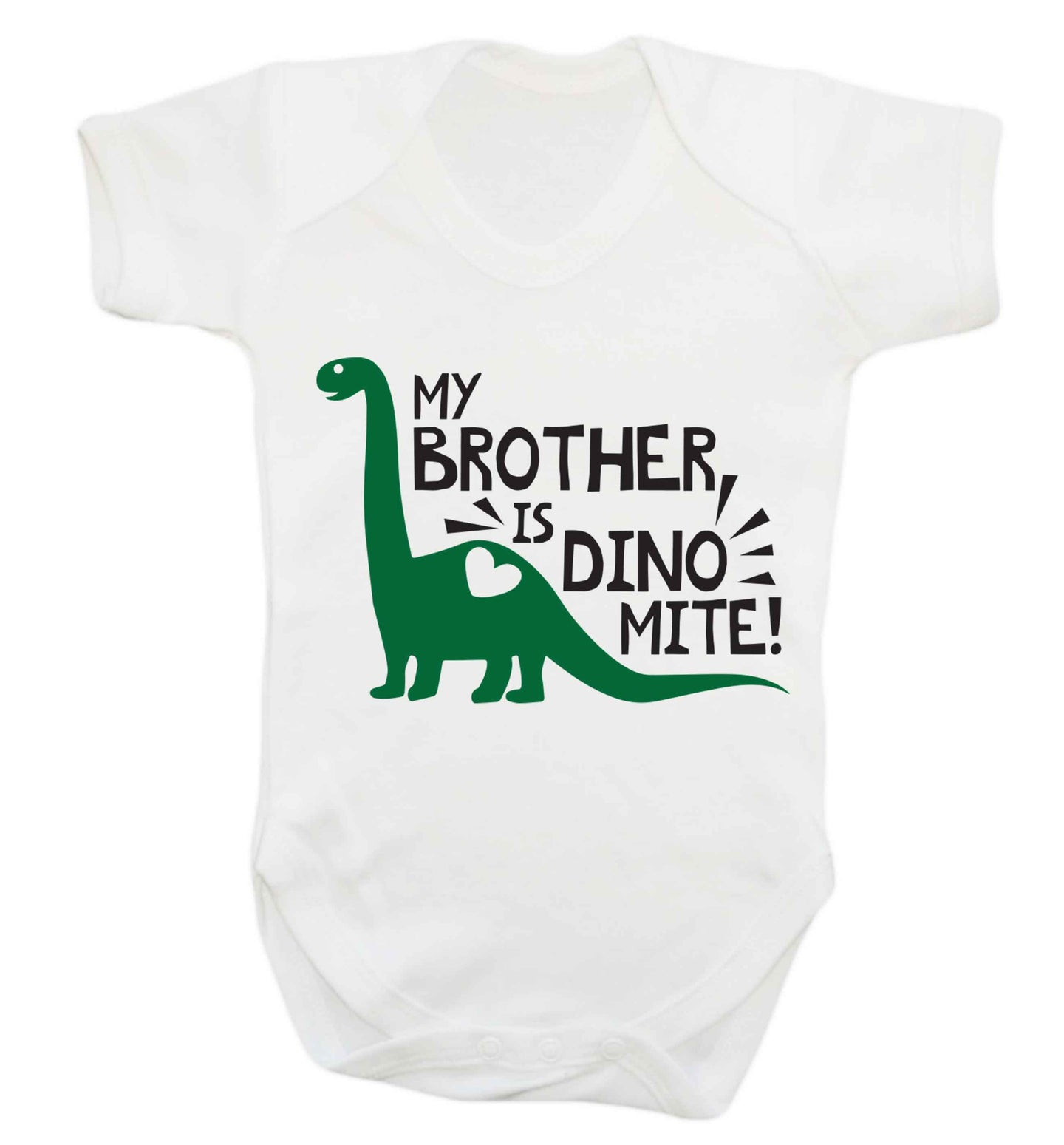 My brother is dinomite! Baby Vest white 18-24 months