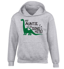 My auntie is dinomite! children's grey hoodie 12-13 Years