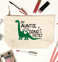 My auntie is dinomite! natural makeup bag