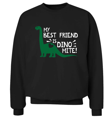 My best friend is dinomite! Adult's unisex black Sweater 2XL