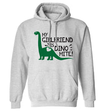 My girlfriend is dinomite! adults unisex grey hoodie 2XL
