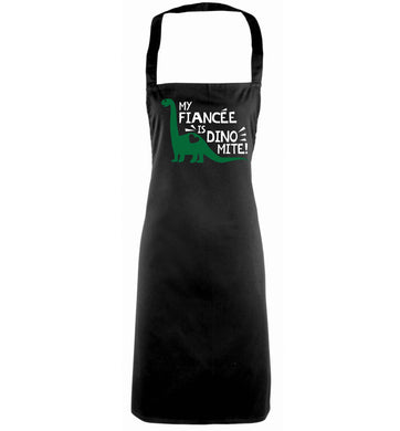 My fiancee is dinomite! black apron