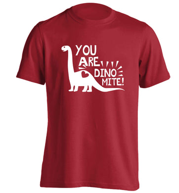 You are dinomite! adults unisex red Tshirt 2XL