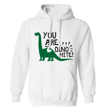 You are dinomite! adults unisex white hoodie 2XL