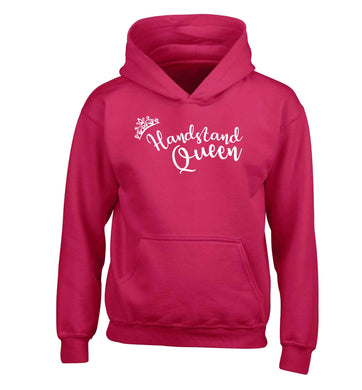 Handstand Queen children's pink hoodie 12-13 Years
