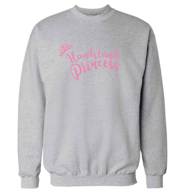 Handstand princess Adult's unisex grey Sweater 2XL