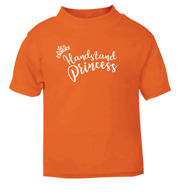 Handstand princess orange Baby Toddler Tshirt 2 Years