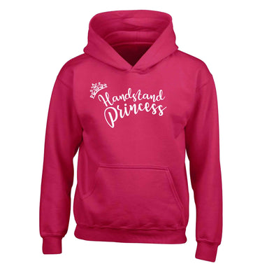 Handstand princess children's pink hoodie 12-13 Years