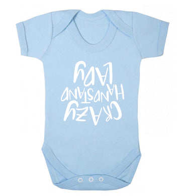 Crazy handstand lady Baby Vest pale blue 18-24 months