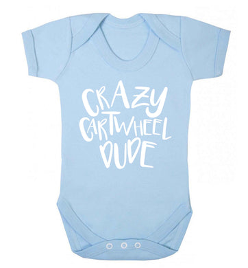 Crazy cartwheel dude Baby Vest pale blue 18-24 months