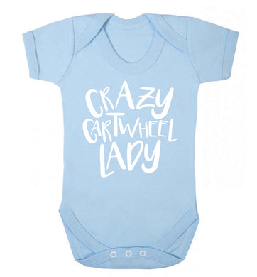 Crazy cartwheel lady Baby Vest pale blue 18-24 months