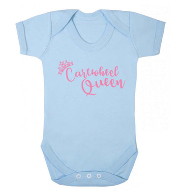 Cartwheel queen Baby Vest pale blue 18-24 months