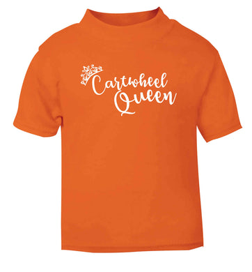 Cartwheel queen orange Baby Toddler Tshirt 2 Years