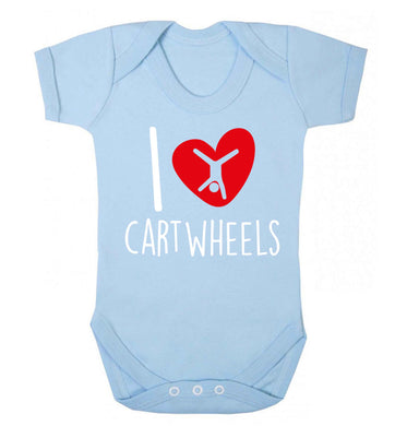 I love cartwheels Baby Vest pale blue 18-24 months