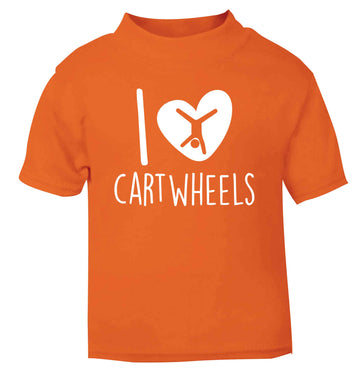 I love cartwheels orange Baby Toddler Tshirt 2 Years