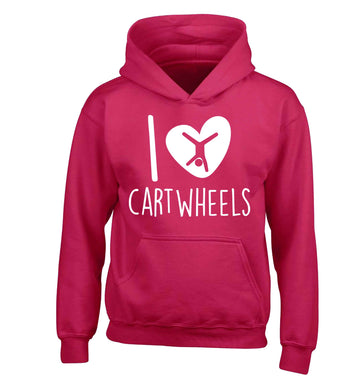 I love cartwheels children's pink hoodie 12-13 Years