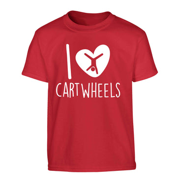 I love cartwheels Children's red Tshirt 12-13 Years