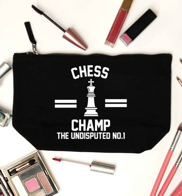 Undisputed chess championship no.1  black makeup bag