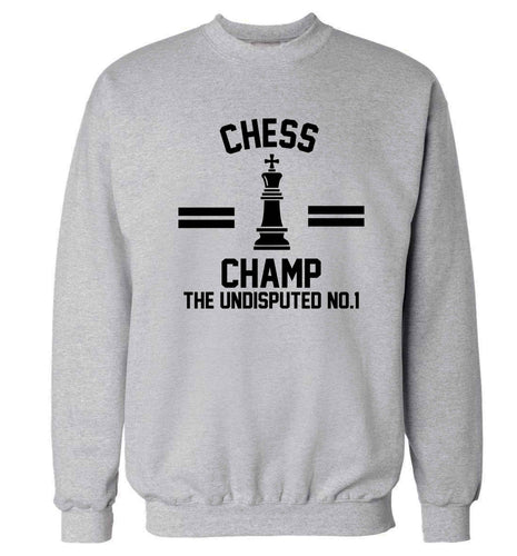 Undisputed chess championship no.1  Adult's unisex grey Sweater 2XL