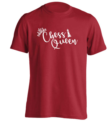 Pink chess queen  adults unisex red Tshirt 2XL