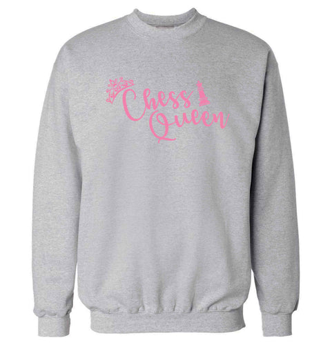 Pink chess queen  Adult's unisex grey Sweater 2XL
