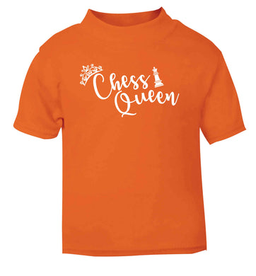 Pink chess queen  orange Baby Toddler Tshirt 2 Years