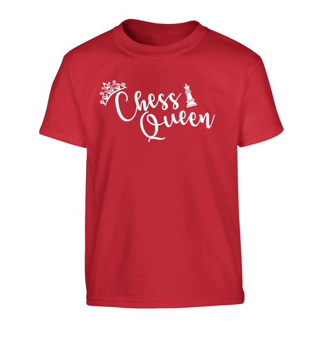 Pink chess queen  Children's red Tshirt 12-13 Years