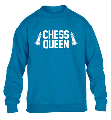 Chess queen children's blue sweater 12-13 Years