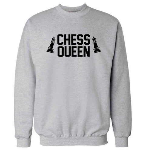 Chess queen Adult's unisex grey Sweater 2XL