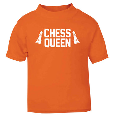 Chess queen orange Baby Toddler Tshirt 2 Years