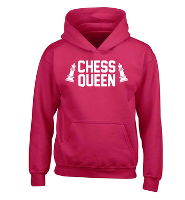 Chess queen children's pink hoodie 12-13 Years