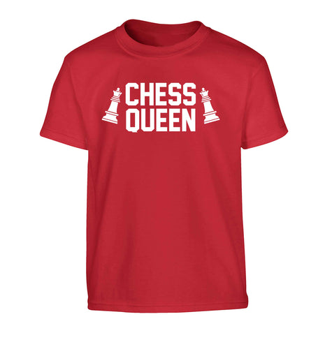 Chess queen Children's red Tshirt 12-13 Years