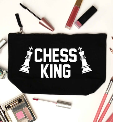 Chess king black makeup bag