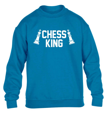 Chess king children's blue sweater 12-13 Years