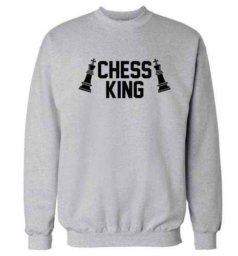 Chess king Adult's unisex grey Sweater 2XL